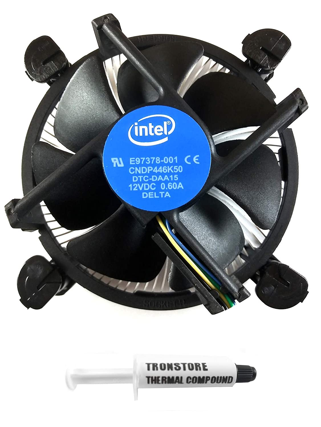 Intel Core i3 i5 i7 Socket 1151 1150 1155 1156 4-Pin Connector CPU Cooler with Copper Core Base & Aluminum Heatsink & 3.5-Inch Fan with TRONSTORE Thermal Paste (TS1)