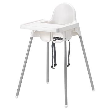 Ikea Kinderstühle ikea antilop kinderstuhl mit sitzgurt in weiß mit tablett amazon