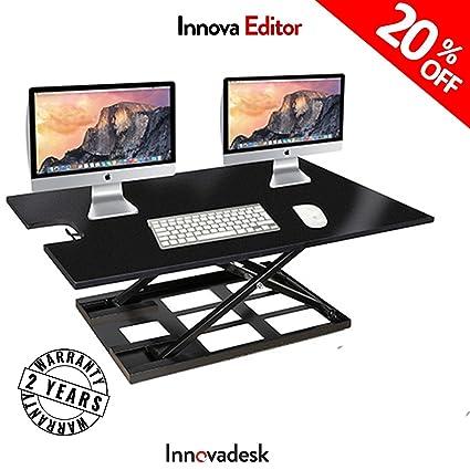 basic office desk. Adjustable Standing Desk Converter-INNOVADESK 40-24 Inches- Basic Height  Office Desk Basic