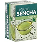 EDEN FOODS Sencha Green Tea - Pack of 3 (16 tea bags each, total 48 tea bags)