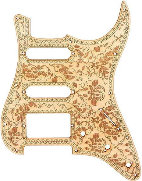 Drfeify Guitarra Eléctrica Pickguard, Wood Pickguard Repair Parts ...