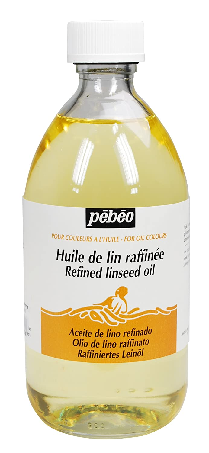 Pebeo Refined Linseed Oil Thinner for Paints, 495ml Bottle Pebeo Fabricant de Couleurs 650103