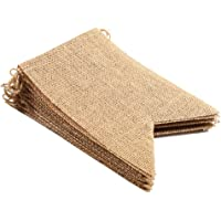 JIMEI Burlap Banner DIY Party Decoration for a Wedding, Birthday, Baby Shower, Camping, Party and Any Occasion (18 PCS)