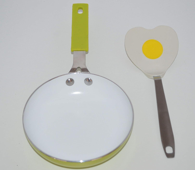 Sartén individual Ceramique Diam 14 cm + espátula: Amazon.es: Hogar