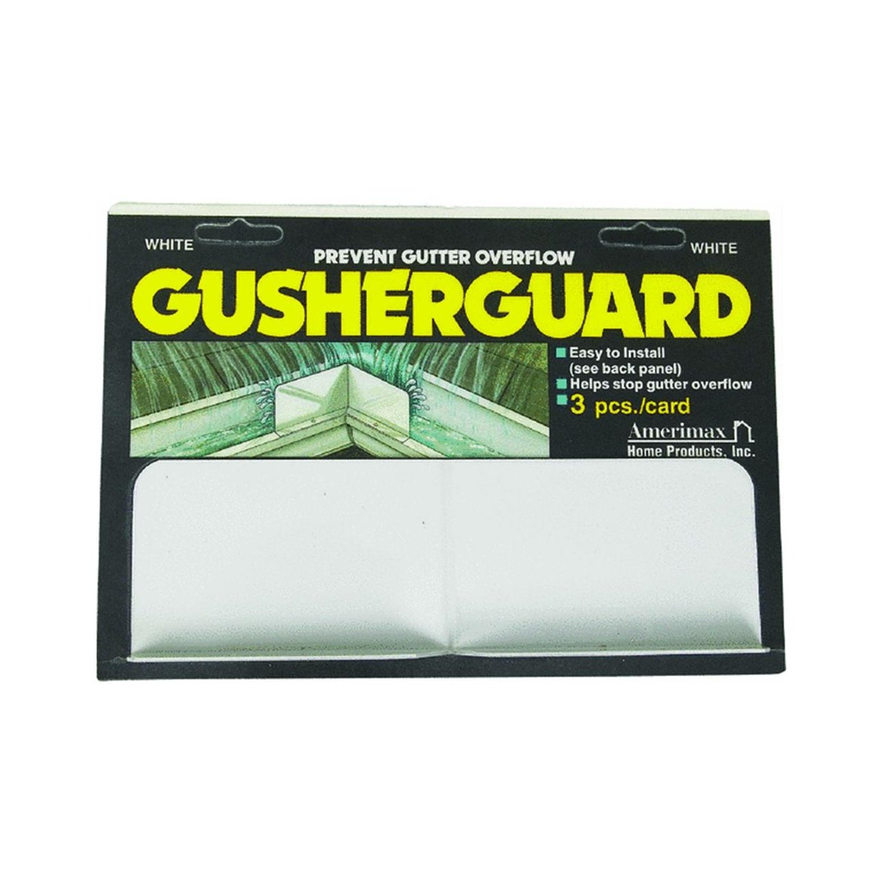 Amerimax 3PK White Gusher Guard Home Products 25074 GusherGuard, Pack of 1