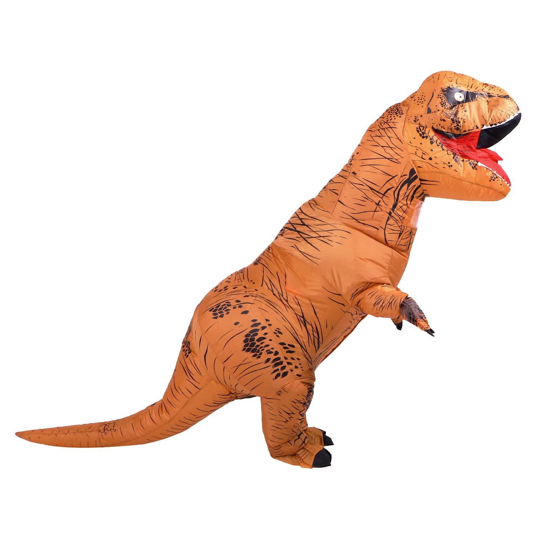 Yonji - Disfraz Hinchable de Dinosaurio T-Rex para Adultos ...