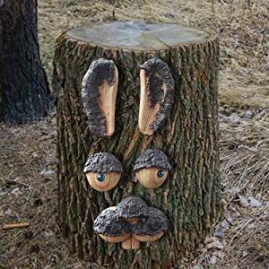 Tree Face Sculpture for Garden Decoration Whimsical Tree Hugger Statue Ornament Patio, Lawn Yard Art Outdoor Decor Resin