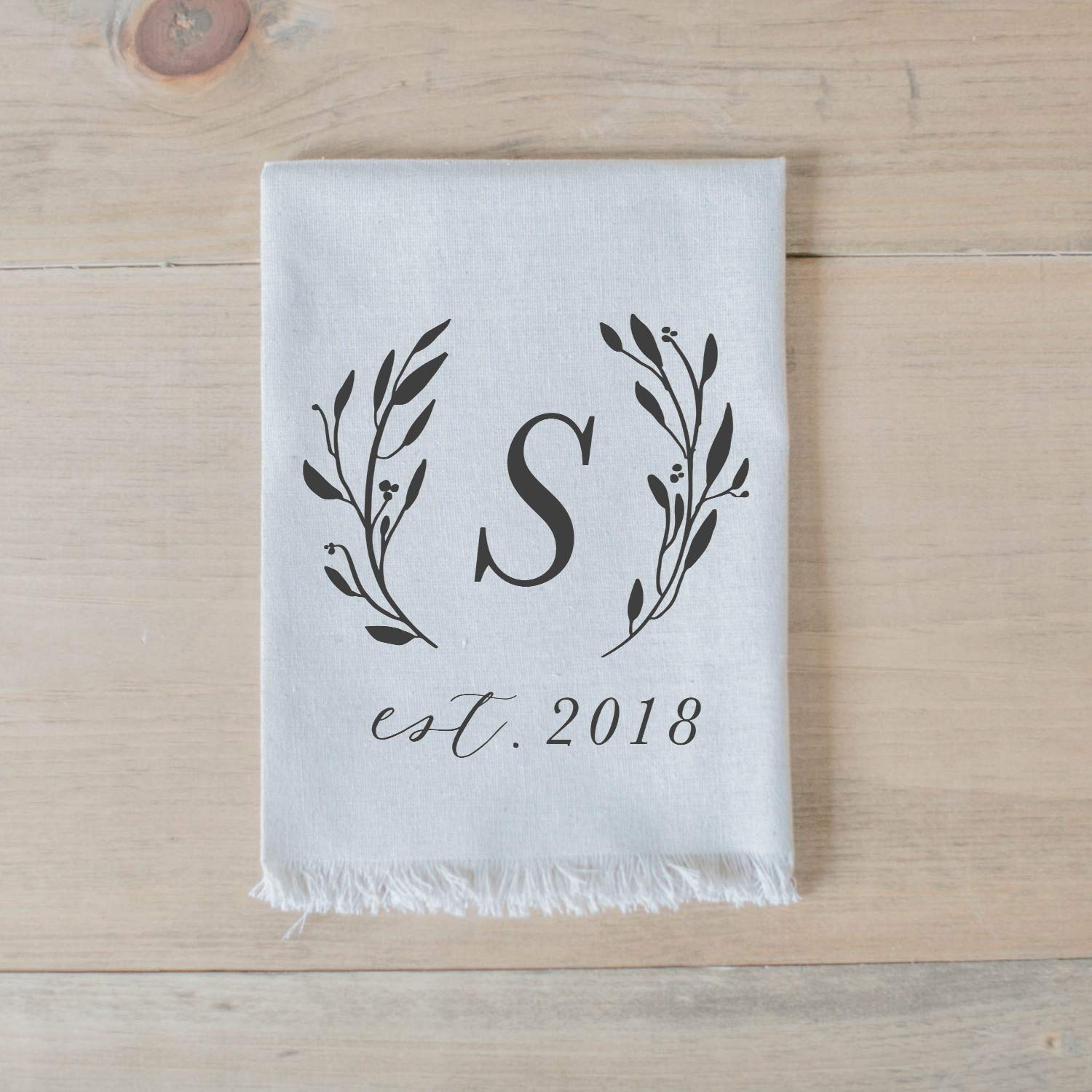 home decor place setting table setting home decor dinner party tableware housewarming gift Personalized Napkin Set Initial with Laurels Handmade in the USA