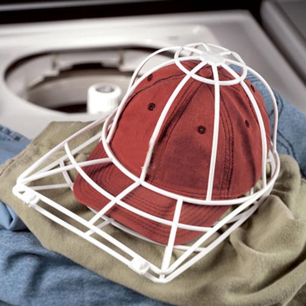 iusunプラスチック座金キャップ野球帽子キャップクリーナークリーニングプロテクターボールキャップ洗濯フレームケージ B075S1QQKM ホワイト