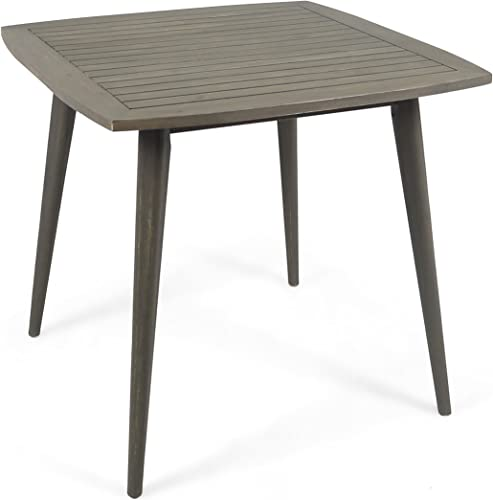 Great Deal Furniture Stanford Outdoor Square Acacia Wood Dining Table
