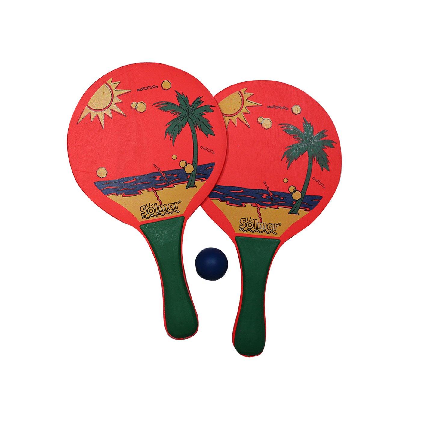 Conjunto de 2 palas de playa y pelota Neón: Amazon.es: Juguetes y ...