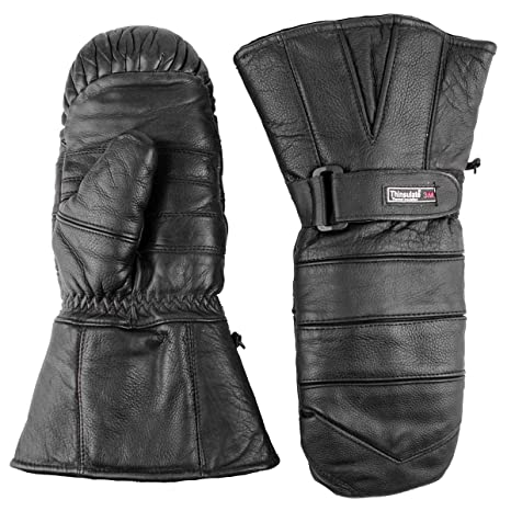 2ca5aa4a5c3a6 Amazon.com: Premium Leather Snowmobile Mittens Gauntlet Snow Ski Cold  Weather (XS): Automotive