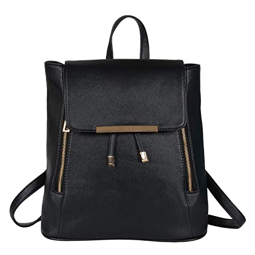 401330d6b3a5 Lychee Bags Women s Black PU Cadence Backpack  Amazon.in  Shoes ...