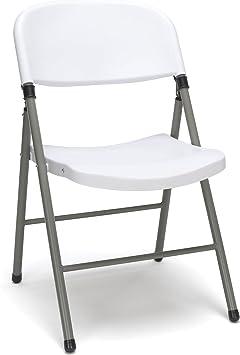 Amazon.com: Essentials multiusos silla plegable de plástico ...