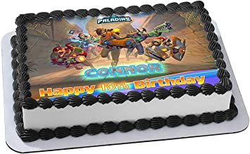 Amazon.com: Paladins Cake Topper Edible Image Personalized ...