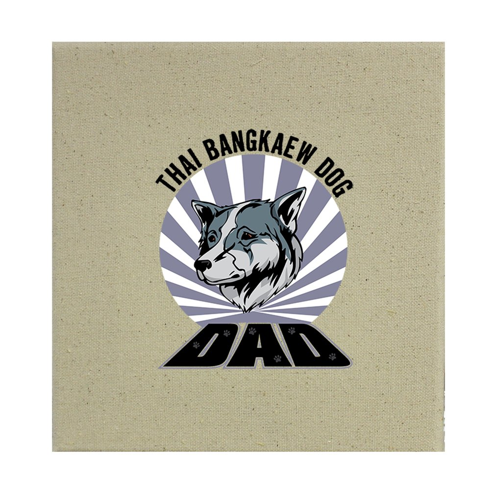 Style in Print Stretched Natural Canvas Dad Thai Bangkaew Dogdog 12''X12'' by Style in Print