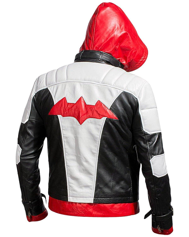 Leather jacket repair vancouver - Batman Arkham Knight Red Hood Jacket Vest At Amazon Men S Clothing Store