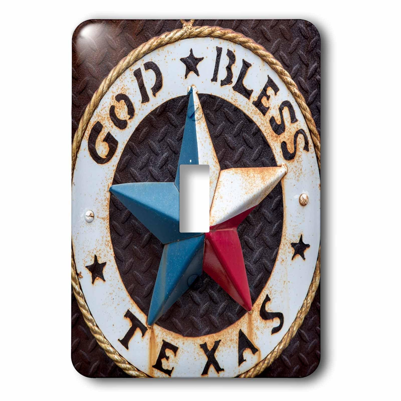3dRose lsp_190191_1 Lone Star Of Texas Emblem, Austin, Texas, Usa Toggle Switch