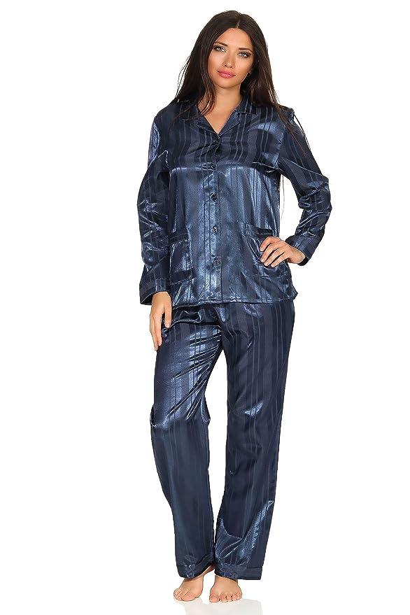 0e20fd5f5e5a14 Normann Copenhagen Satin Pyjama Streifendessin - innen angeraut 251 201 94  010