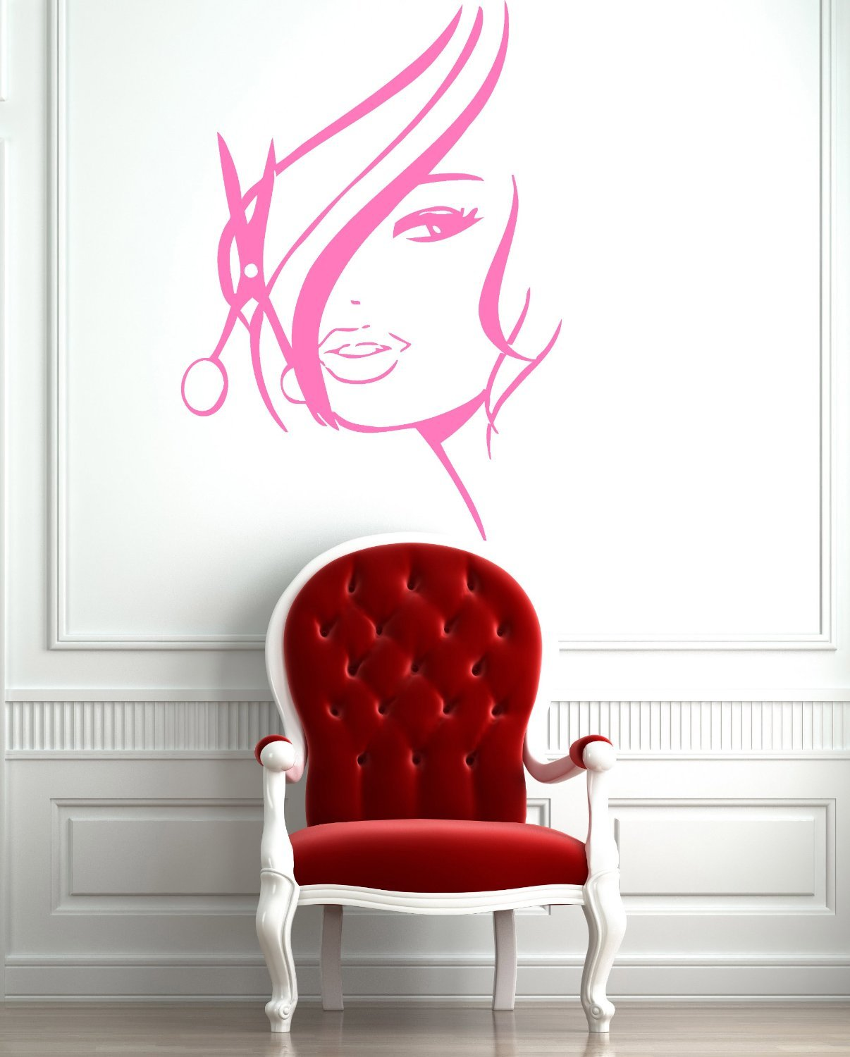 Amazon wall stickers vinyl decal hot sexy girl hair spa amazon wall stickers vinyl decal hot sexy girl hair spa beauty salon z736 home kitchen amipublicfo Gallery