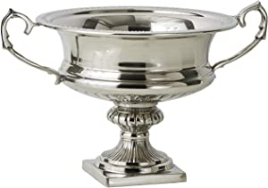 Serene Spaces Living Silver-Plated Trophy Flower Urn, Use for Home Decor, Event Centerpieces, Wedding, Parties, Floral Arrangements, Medium 10
