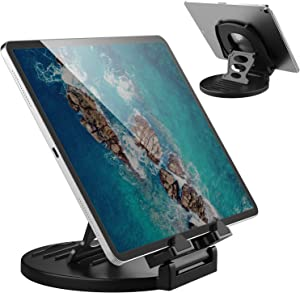 AboveTEK Tablet Stand, 360° Rotating Commercial iPad Stand, Swivel Design for Store Retail Office Bedside Showcase Reception Kitchen Home