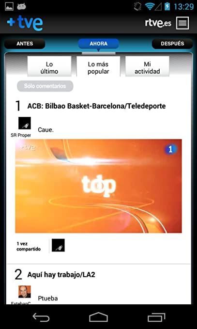 Amazon.com: +TVE: Appstore para Android