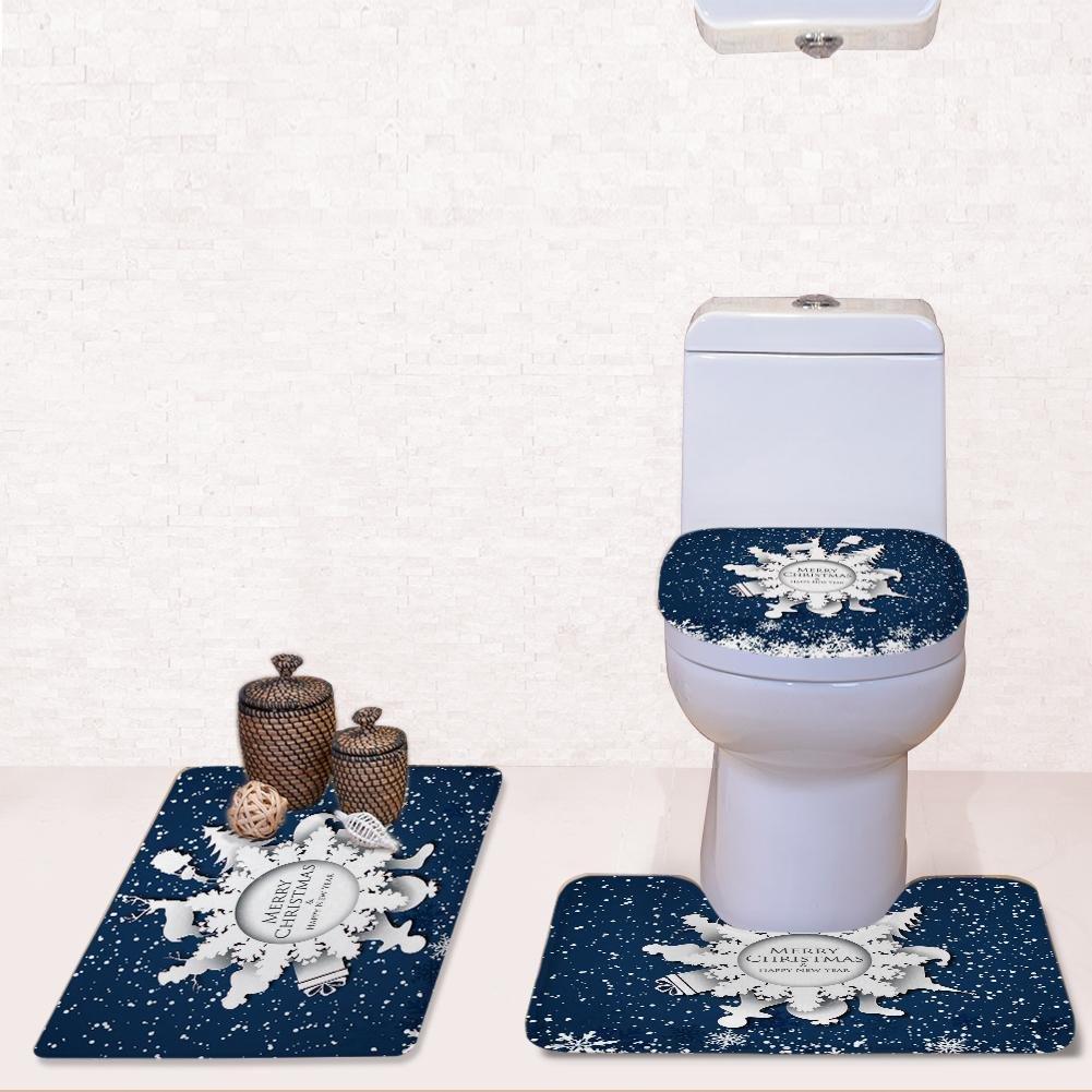 Toilet - ART Home Dekoration WC Badezimmer Set Set Set WC Sitzbezug Set Aufkleber Abnehmbare Badematte + Pedestal Mat + WC Sitzbezug Mat, Gelb B078PGBZ2L Duschmatten 228918
