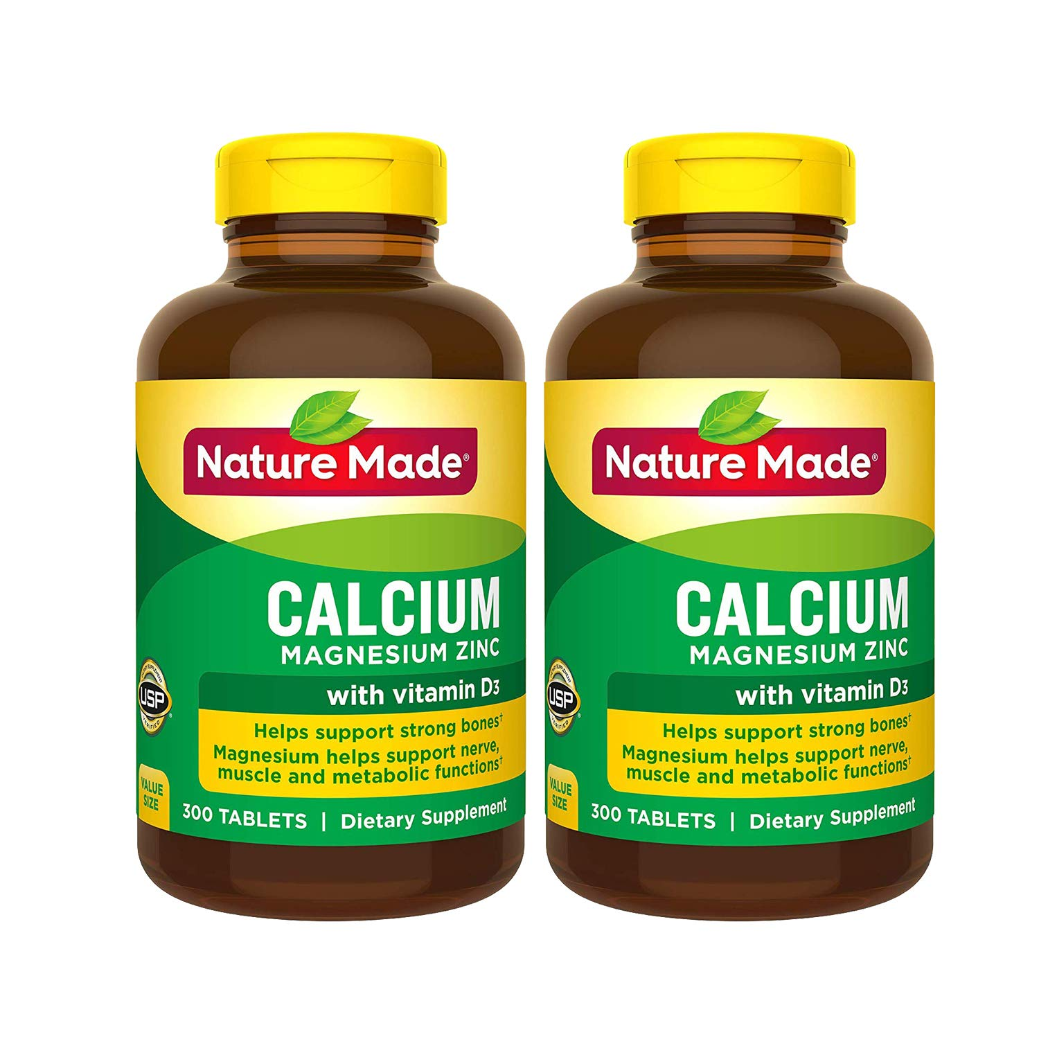 Calcium, Magnesium Zinc with Vitamin D3, 600 Count for Bone Health (Packaging May Vary)