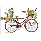Mary Lake-Thompson Garden Bike Cotton Flour Sack Kitchen Towel