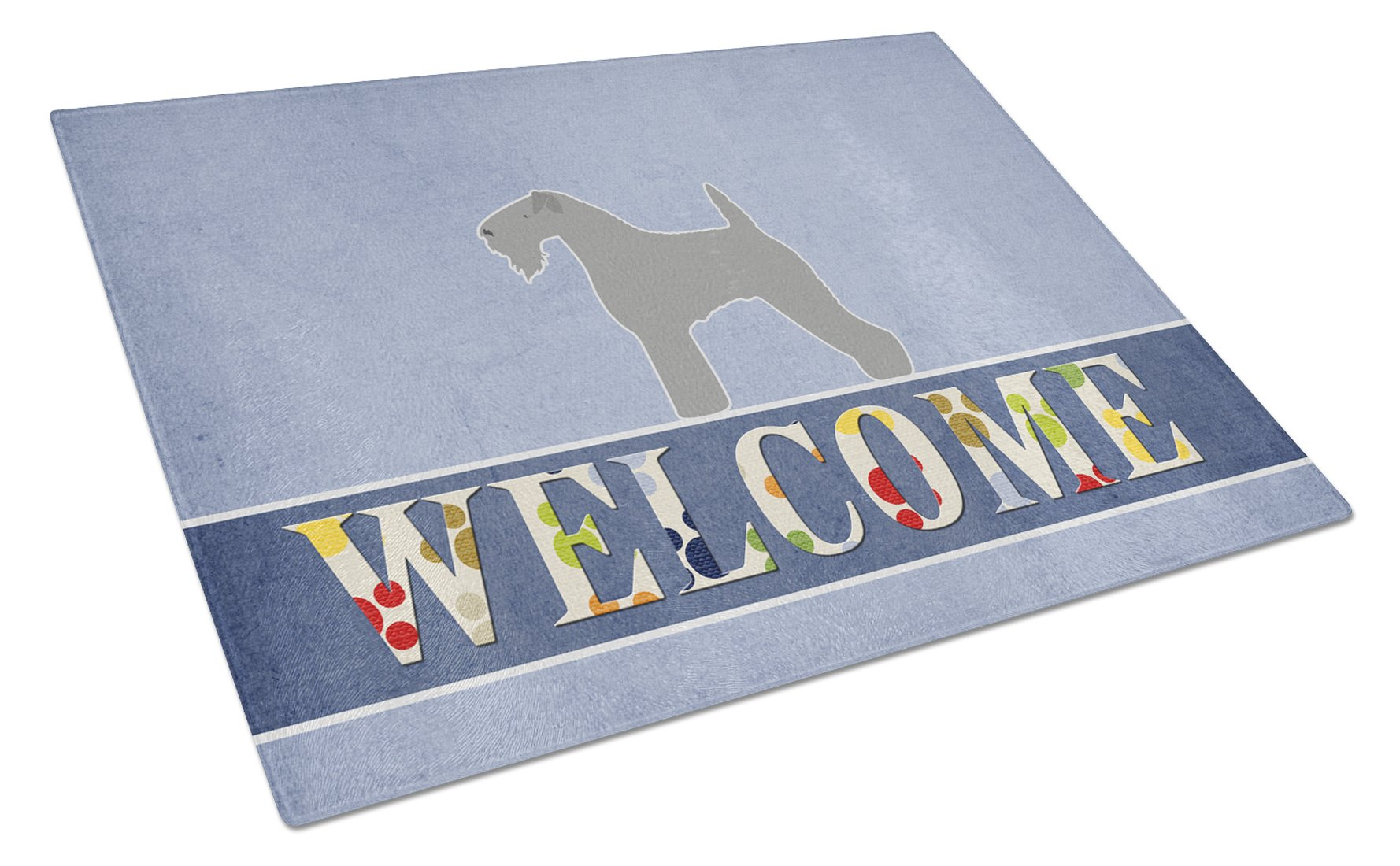 7.5HX7.5W Carolines Treasures Kerry Blue Terrier Checkerboard green Pair of Pot Holders BB3792PTHD Multicolor