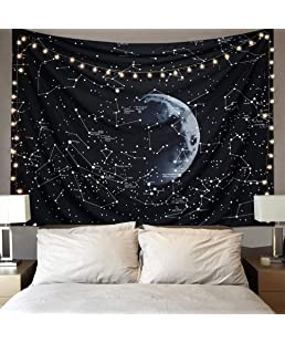 Dremisland Psychedelic Constellation Galaxy Space Pattern Wall tapestry Tapestries Wall Hanging Tapestries Star tapestry Home Decorations For Living Room