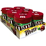 M&M'S Milk Chocolate Holiday Christmas Candy To-Go Bottles 3.5-Ounce Bottle (Pack of 6)