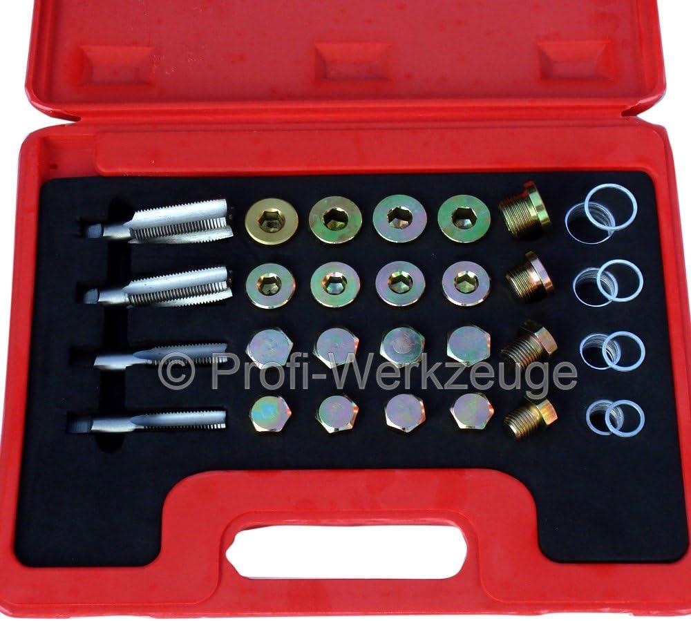 Profi Werkzeuge Ölablassschraube Reparatur Set 13 20 Mm Universal Reparatur Satz Ölschrauben Auto