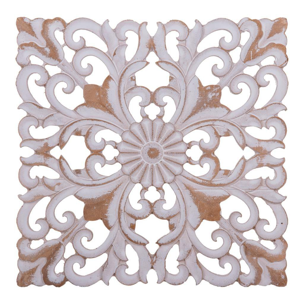 Creaciones Meng 15174Pannello Decorativo, resina, Crema, 29x 29x 3cm