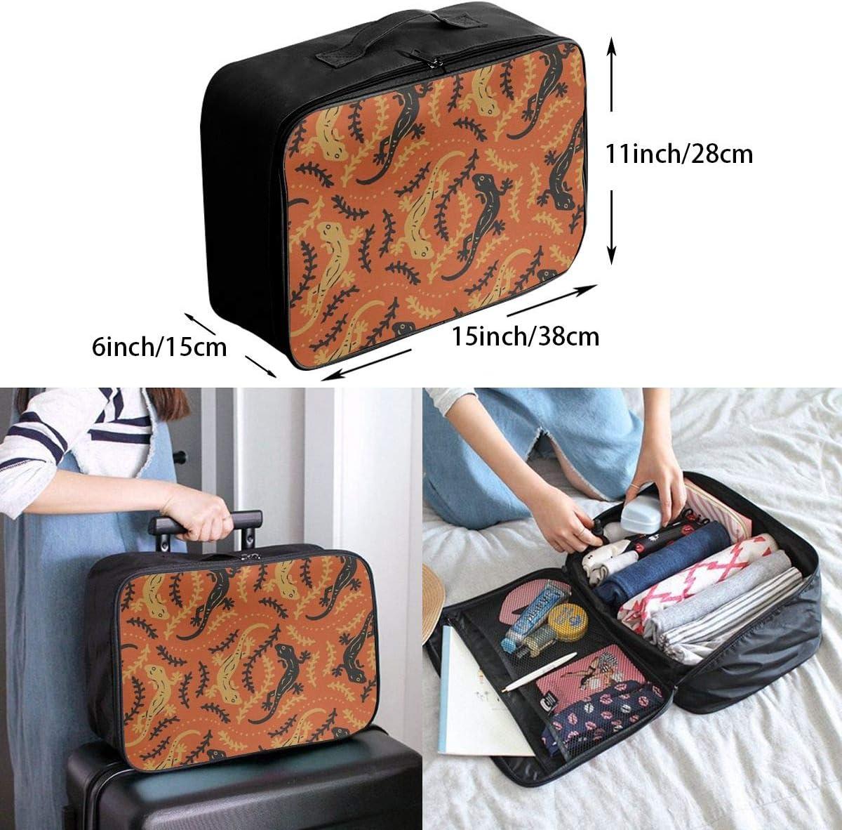 House Lizard Travel Carry-on Luggage Weekender Bag Overnight Tote Flight Duffel In Trolley Handle