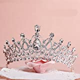 Sunshinesmile Crystal Tiara Crowns Hair Jewelry Rhinestone Wedding Pageant Bridal Princess Headband