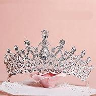 Sunshinesmile Crystal Tiara Crowns Hair Jewelry Rhinestone Wedding Pageant  Bridal Princess Headband 826b57725f3f