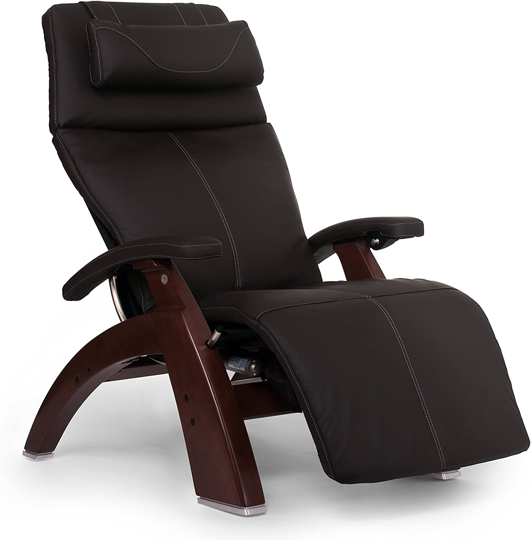 """Perfect Chair """"PC-610 Omni-Motion Classic"""" Top Grain Leather Zero Gravity Recliner, Espresso"""