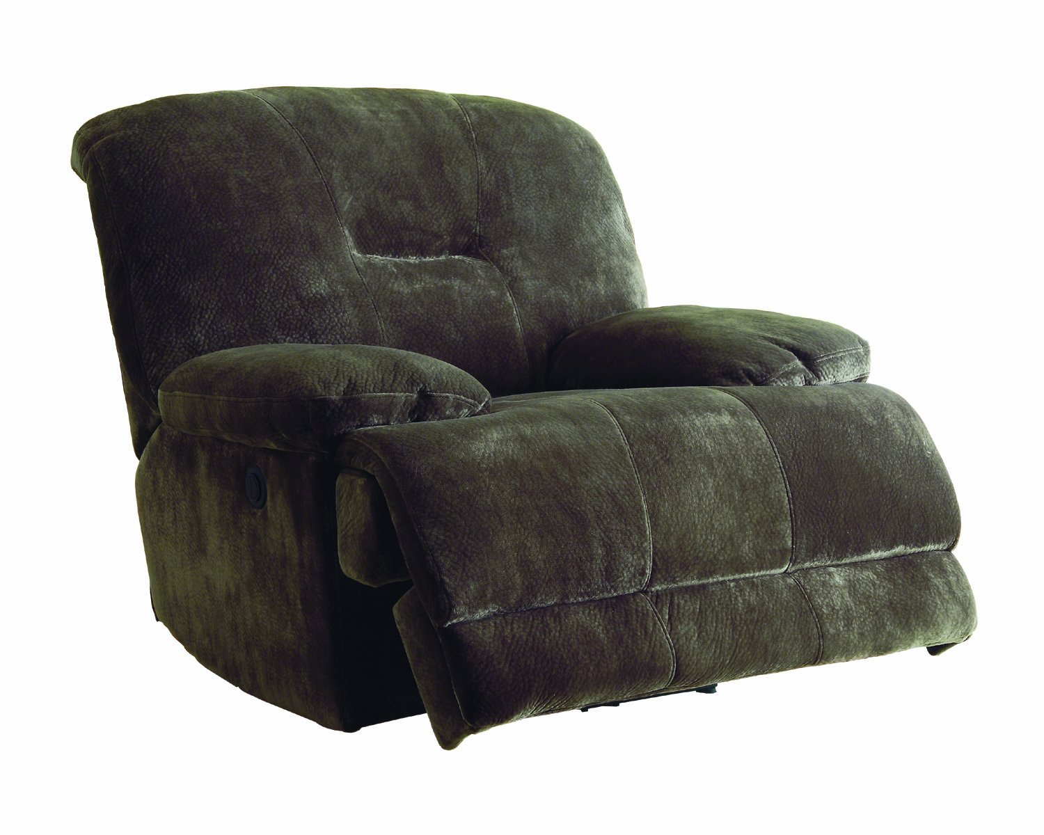 Homelegance 9723-1 Upholstered Glider Reclining Chair, Dark Brown, Textured with Plush Microfiber