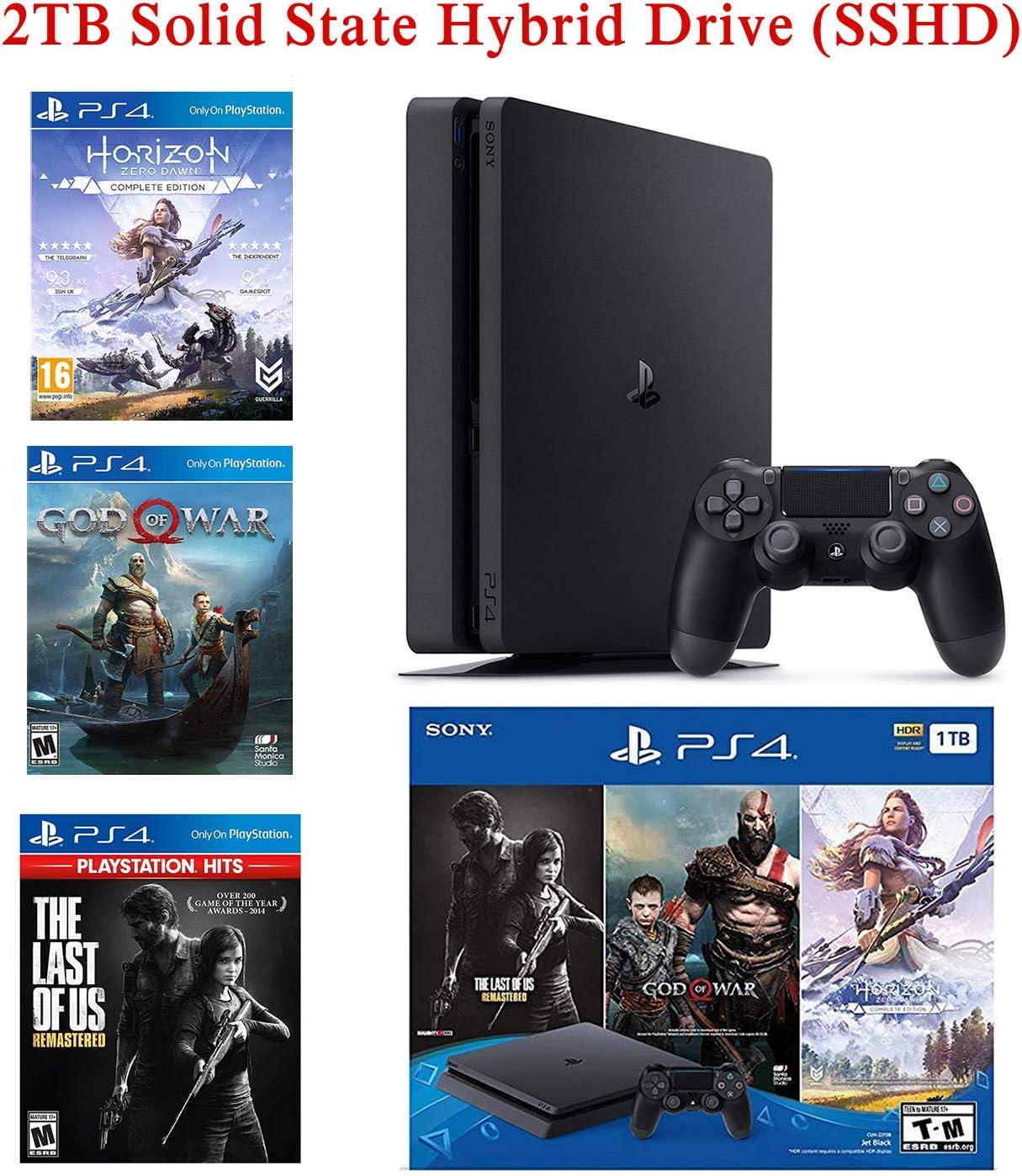 NexiGo 2019 Playstation 4 PS4 Consola Holiday Bundle Actualizado 2TB SSHD sólo en Playstation PS4 Slim Bundle-Incluido 3X Juegos (El último de nosotros, Dios de la guerra, Horizon Zero Dawn): Amazon.es: Informática