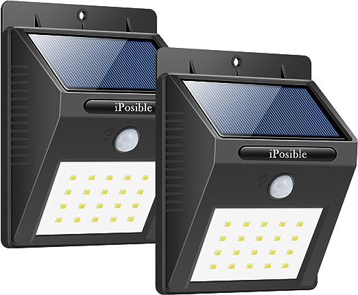 IMPERMEABILE LED ENERGIA SOLARE GIARDINO PERCORSO Sensore Luce per esterni Lampada da parete Garage