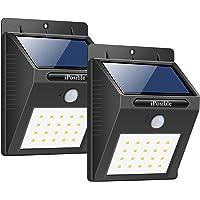 iPosible Foco Solar, [ 2 Paquetes 20 LED Luce Solare Impermeable,1200mAh Lámpara Solare de Pared,Luz de Solar,Luces de…