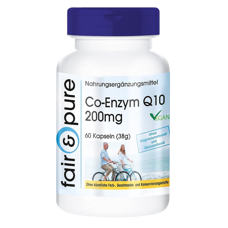 Coenzima Q10 200mg - 60 cápsulas - artículo vegano - gran dosificación: Amazon.es: Salud y cuidado personal