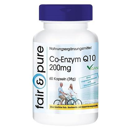 Coenzima Q10 200mg – 60 cápsulas – artículo vegano – gran dosificación