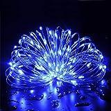 LEDイルミネーションライト ソーラーフェンス 屋外 気分で選べる8パターン点灯できる 100球 10M IP65防水で雨や雪が降る日でも心配なし 誕生日パーティー・結婚式などの飾り ブルーライト