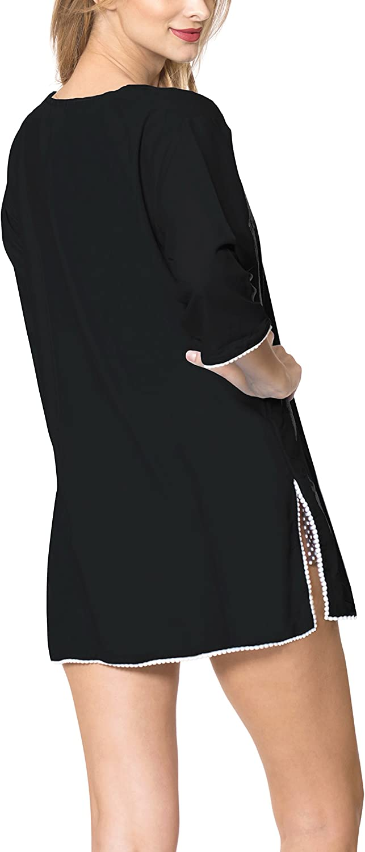 LA LEELA Women Plus Size Hawaiian Shirt Regular Fit Short Sleeve Shirt Printed A
