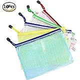 Wskderliner Dokumententasche A5 Klett Zip Beutel Reissverschluss Mesh Bag Farbig Plastic Zipper Packung von 10