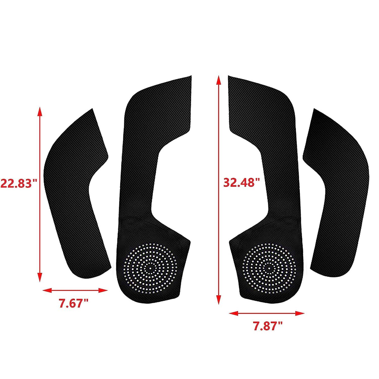 Xotic Tech 4pcs PU Leather Car Door Protector Anti-Kick Mat Pad Door Side Edge Guard Film Protective Sticker for Honda Civic 2016-2019