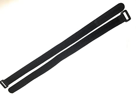 20 x Kabelklettband 40 cm x 40 mm schwarz Klettband Klett Kabel Binder Band Öse